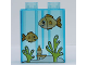 Part No: 4066pb280  Name: Duplo, Brick 1 x 2 x 2 with Aquarium and Fish Pattern