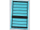 Part No: 57895pb018  Name: Glass for Window 1 x 4 x 6 with Black Stripes Pattern (Sticker) - Set 76005