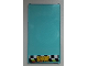 Part No: 57895pb022  Name: Glass for Window 1 x 4 x 6 with 'SHOP' on Checkered Background Pattern (Sticker) - Set 60026