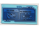 Part No: 57895pb050  Name: Glass for Window 1 x 4 x 6 with Screen with 'FILE: PYTHOR' and 'FILE: GENERAL KOZU' Pattern (Sticker) - Set 70596