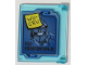 Part No: 60603pb012  Name: Glass for Window 1 x 4 x 3 with Blue Screen with 'WU-CRU' Sticky Note and 'FILE: PHANTOM NINJA' Pattern (Sticker) - Set 70596