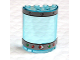 Part No: 6259pb015  Name: Cylinder Half 2 x 4 x 4 with Gauge, Rivets and 4 Lights Pattern (Stickers) - Set 4981