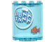 Part No: 6259pb034  Name: Cylinder Half 2 x 4 x 4 with 'DUNK TANK' in White Bubble and Orange Fish Pattern (Stickers) - Set 10244