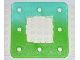 Part No: clikits011pb01  Name: Clikits Frame, Square with 3 x 3 Holes Arrangement, color graduating to Bright Green