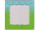 Part No: clikits069pb02  Name: Clikits Frame, Square with 5 x 5 Holes Arrangement, color graduating to Bright Green