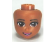 Part No: 12760  Name: Mini Doll, Head Friends with Brown Eyes, Eyelashes, Bright Pink Lips and Open Mouth Pattern