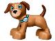 Part No: 1396pb04  Name: Duplo Dog Large Paws with Medium Azure Eyes and Paw Print Collar