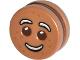 Part No: 14396c01pb01  Name: Minifigure, Head Modified Gingerbread Man