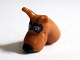 Part No: 20691pb01  Name: Dog Head Great Dane Scooby-Doo with Black Nose and Reddish Brown Pilot Goggles Pattern