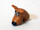 Part No: 20691pb02  Name: Dog Head Great Dane Scooby-Doo with Black Nose Pattern