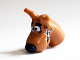 Part No: 20691pb03  Name: Dog Head Great Dane Scooby-Doo with Black Nose and White Chattering Teeth Pattern