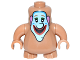Part No: 22472c03pb05  Name: Body, Nexo Knights Scurrier with Medium Dark Flesh Arms with Clown Face Pattern (The Beatles Jeremy Hillary Boob)