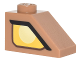 Part No: 3040pb015R  Name: Slope 45 2 x 1 with Yellow Clayface Eye Pattern Model Right Side