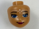 Part No: 33833  Name: Mini Doll, Head Friends with Dark Azure Eyes, Closed Mouth Smile and Elves Tribal Pattern (Rosalyn)