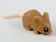 Part No: 35757c01pb01  Name: Mouse with Light Flesh Tail, Black Eyes and Bright Pink Nose Pattern