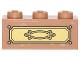 Part No: 3622pb048  Name: Brick 1 x 3 with Gold Drawer Pattern (Sticker) - Set 4840