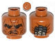 Part No: 3626cpb0983  Name: Minifigure, Head Alien with SW Weequay Guard Pattern - Hollow Stud