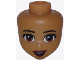 Part No: 37591  Name: Mini Doll, Head Friends with Light Brown Eyes, Dark Red Lips and Open Mouth Smile Pattern