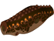 Part No: 38943c01pb01  Name: Dino Body Indominus rex/Carnotaurus with Reddish Brown Top with Dark Brown Side Stripes and Dark Brown and Orange Spots Pattern