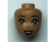 Part No: 49088  Name: Mini Doll, Head Friends with Reddish Brown Eyes, Dark Brown Lips and Open Mouth Pattern