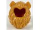 Part No: 49109pb01  Name: Minifigure, Hair Lion's Mane with Flesh Cat Ears Pattern