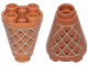 Part No: 49309pb001  Name: Cone 2 x 2 x 2 Inverted with Waffle Pattern
