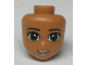 Part No: 93184  Name: Mini Doll, Head Friends with Green Eyes, Pale Pink Lips and Open Mouth Pattern