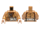 Part No: 973pb1340c01  Name: Torso LotR Coat with Brown Shirt and Belt with Pouch Pattern / Medium Dark Flesh Arms / Light Flesh Hands