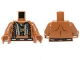 Part No: 973pb1462c01  Name: Torso Bare Chest with Beaded Armor, Fur and Gold Minifigure Pendant Pattern / Medium Dark Flesh Arms / Medium Dark Flesh Hands