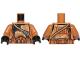 Part No: 973pb1830c01  Name: Torso SW Armor Camouflage Clone Trooper with Dark Tan Diagonal Belt Pattern / Medium Dark Flesh Arms / Black Hands