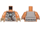 Part No: 973pb2924c01  Name: Torso SW Resistance Pilot Flight Suit with Straps and Brown Hose Pattern / Medium Dark Flesh Arms / Dark Tan Hands