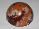 Part No: 98107pb02  Name: Cylinder Hemisphere 11 x 11, Studs on Top with Tatooine Dark Red / Dark Tan / White Planet Pattern (9675)