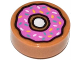 Part No: 98138pb021  Name: Tile, Round 1 x 1 with Doughnut with Dark Pink Frosting and Sprinkles Pattern