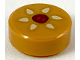 Part No: 98138pb101  Name: Tile, Round 1 x 1 with Chinese Almond Cookie Pattern
