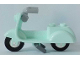 Part No: 15396c06  Name: Scooter with Dark Bluish Gray Stand and Light Bluish Gray Angular Handlebars - Complete Assembly
