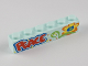 Part No: 3009pb151  Name: Brick 1 x 6 with 'PEACE' and Flower Pattern