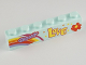 Part No: 3009pb153  Name: Brick 1 x 6 with 'GROOVY', 'LOVE', Rainbow and Flower Pattern
