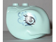 Part No: 35686pb01  Name: Turtle Head with Eyes and Sand Blue Swirls Pattern