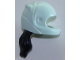 Part No: 36293c01pb02  Name: Mini Doll, Hair Combo, Hat with Hair, Racing Helmet with Flexible Rubber Black Hair Ponytail Pattern