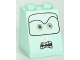 Part No: 3678bpb046  Name: Slope 65 2 x 2 x 2 with Bottom Tube with Light Gray Eyes and Angry Mouth with Teeth Pattern