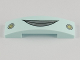 Part No: 93273pb003  Name: Slope, Curved 4 x 1 Double No Studs with Lips and Round Headlights Pattern (Flo)