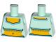 Part No: 973pb1770  Name: Torso Fringed Crop Top Pattern (Genie)