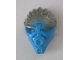 Part No: 24160pb01  Name: Bionicle Mask of Water (Unity) with Marbled Flat Silver Pattern