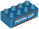 Part No: 3011pb042  Name: Duplo, Brick 2 x 4 with White 'PISTON CUP' Pattern