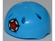 Part No: 46303pb001  Name: Minifig, Headgear Helmet Sports with Vent Holes with Red Star Pattern