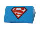 Part No: 85984pb144  Name: Slope 30 1 x 2 x 2/3 with Superheroes / Superman 'S' Logo Pattern