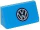 Part No: 85984pb157  Name: Slope 30 1 x 2 x 2/3 with VW Logo Pattern (Sticker) - Set 40252