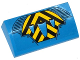 Part No: 88930pb050  Name: Slope, Curved 2 x 4 x 2/3 No Studs with Bottom Tubes with Black and Yellow Chevrons, Air Intakes and Vents Pattern (Sticker) - Set 76020