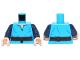 Part No: 973pb1503c01  Name: Torso SW V-Neck Shirt and Dark Brown High Tie Belt Pattern / Dark Blue Arms / Light Flesh Hands