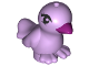Part No: 98388pb06  Name: Bird, Friends / Elves with Magenta Beak and Black Eyes Pattern (Violet)